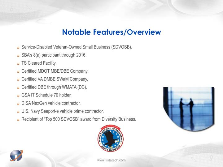 Notable features overview