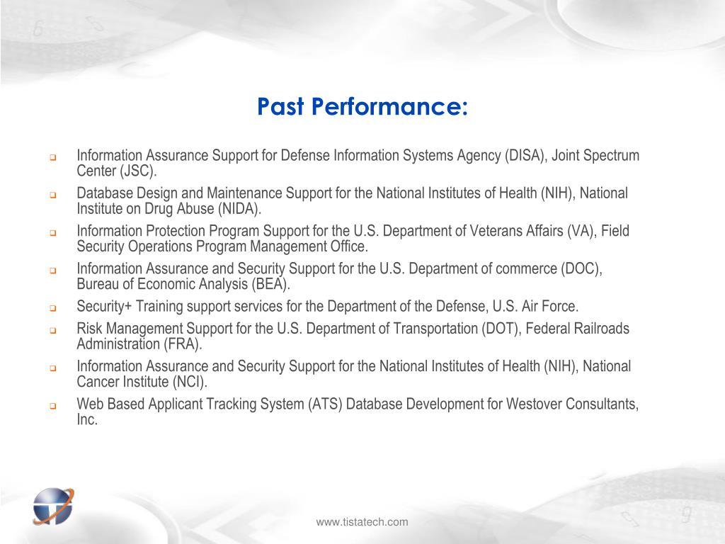 Past Performance: