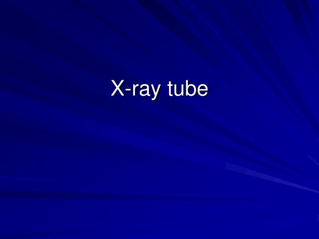x ray tube l.