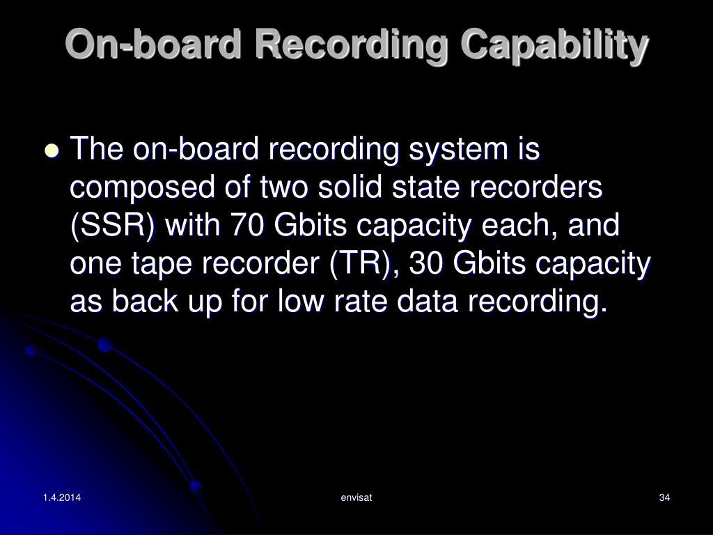 On-board Recording Capability