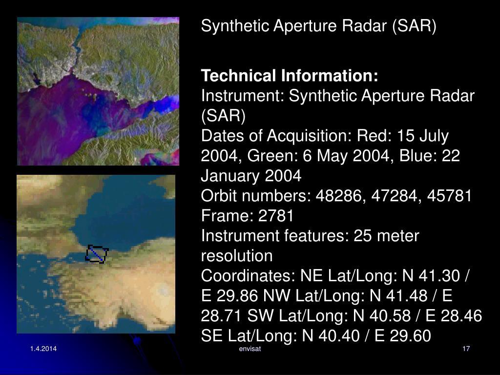 Synthetic Aperture Radar (SAR)