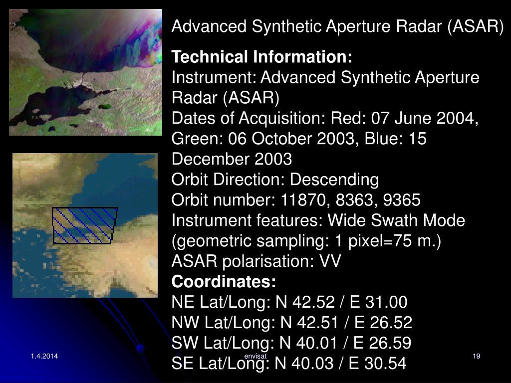 Advanced Synthetic Aperture Radar (ASAR)