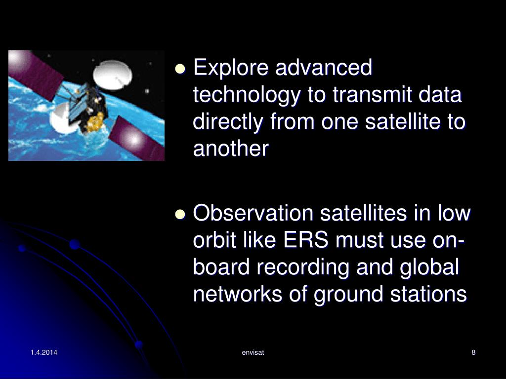 Explore advanced technology to transmit data directly from one satellite to another