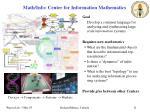 math info center for information mathematics