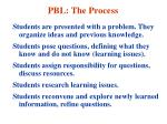 pbl the process