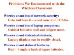 problems we encountered with the wireless classroom
