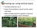 growing up using vertical space
