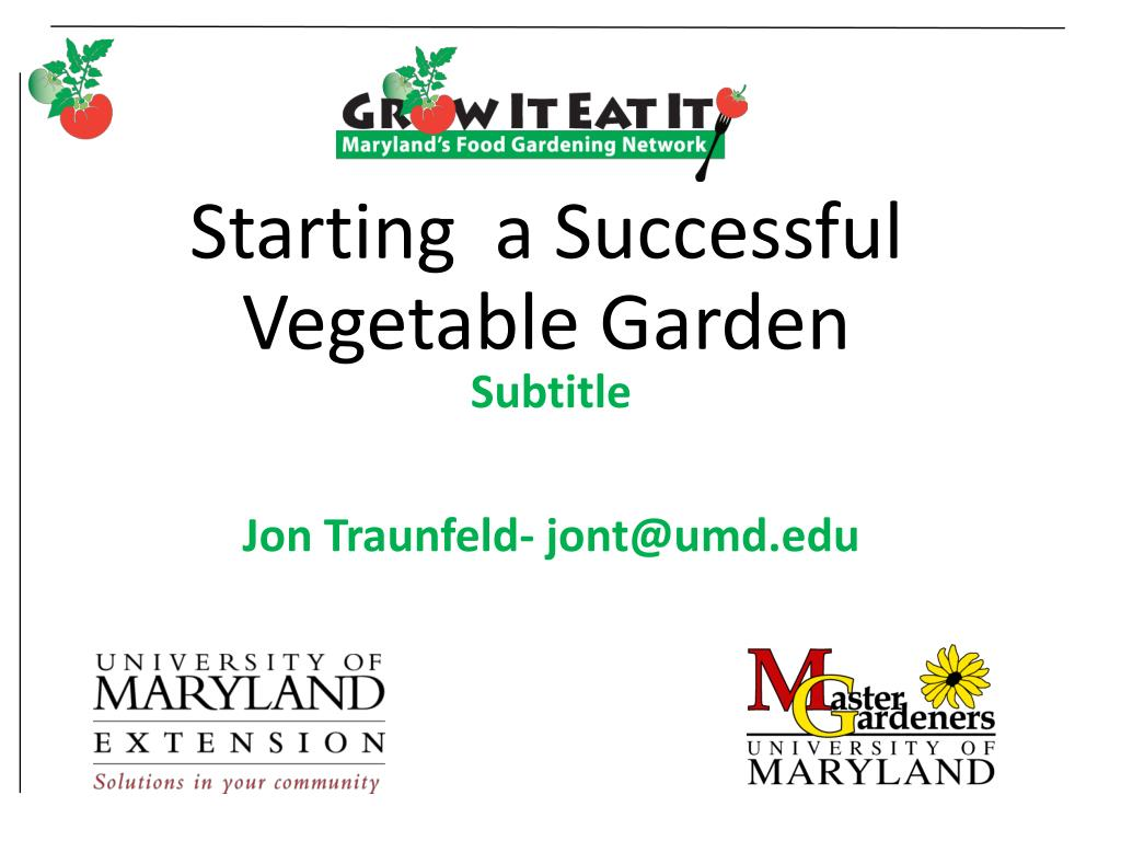 starting a successful vegetable garden l.