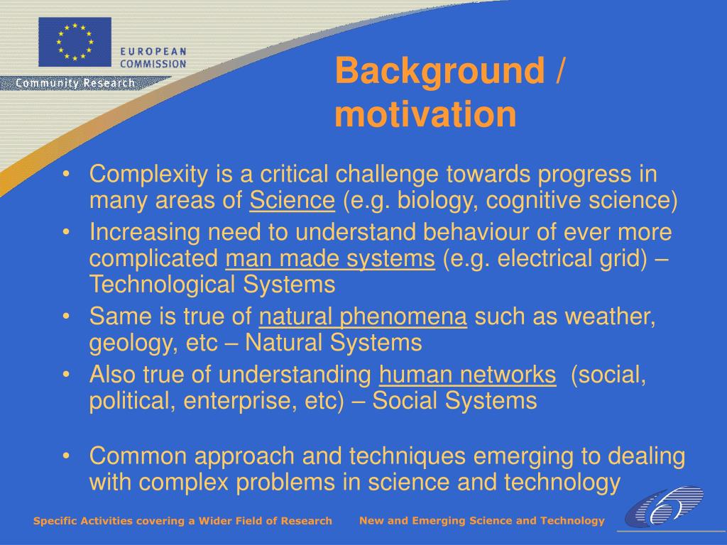 Complexity is a critical challenge towards progress in many areas of