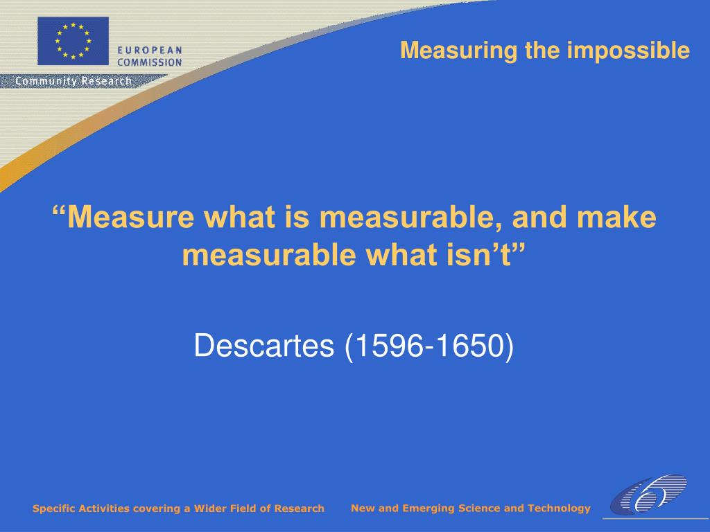 Measuring the impossible