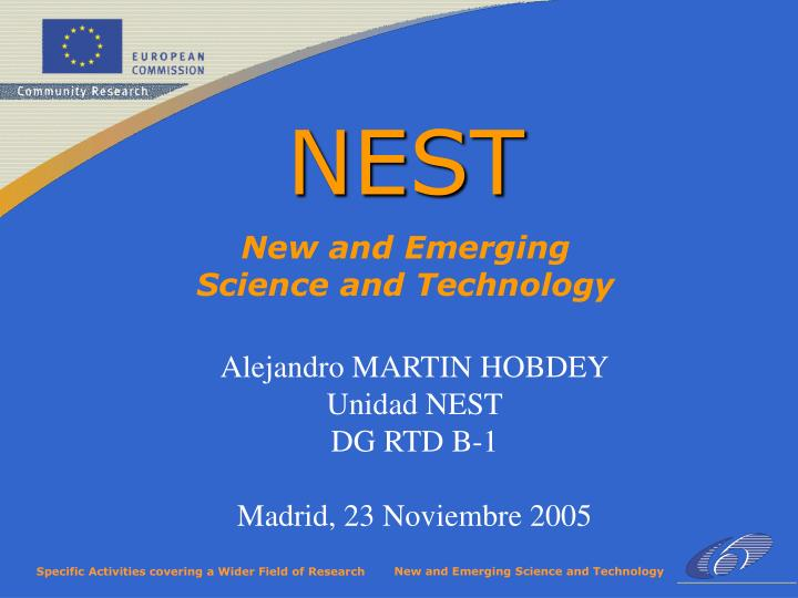 New and emerging science and technology