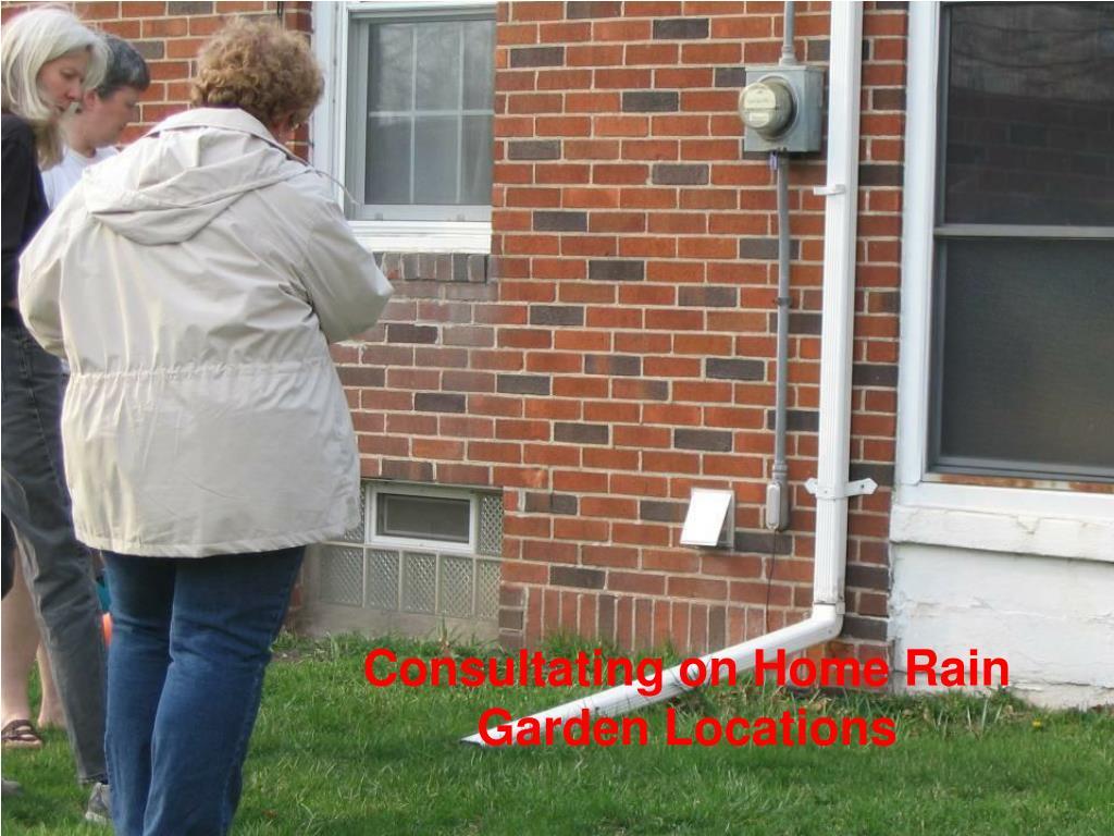 Consultating on Home Rain Garden Locations