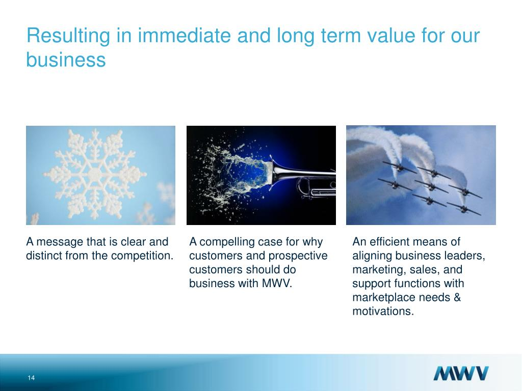 An efficient means of aligning business leaders, marketing, sales, and support functions with marketplace needs & motivations.