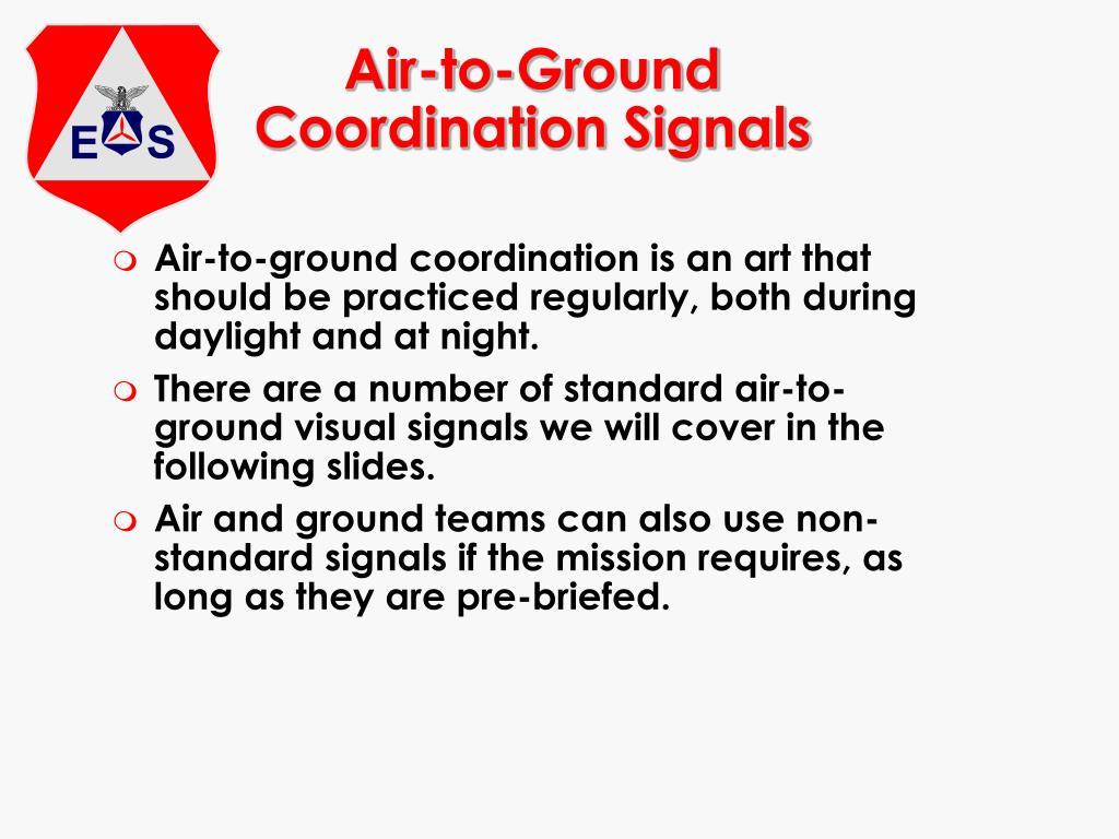 Air-to-Ground Coordination Signals
