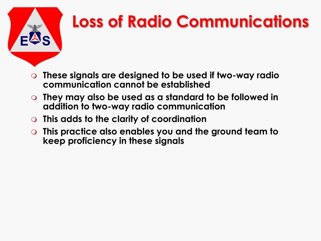 Loss of Radio Communications