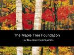 the maple tree foundation