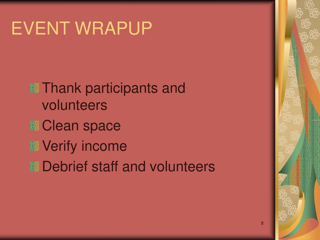 EVENT WRAPUP