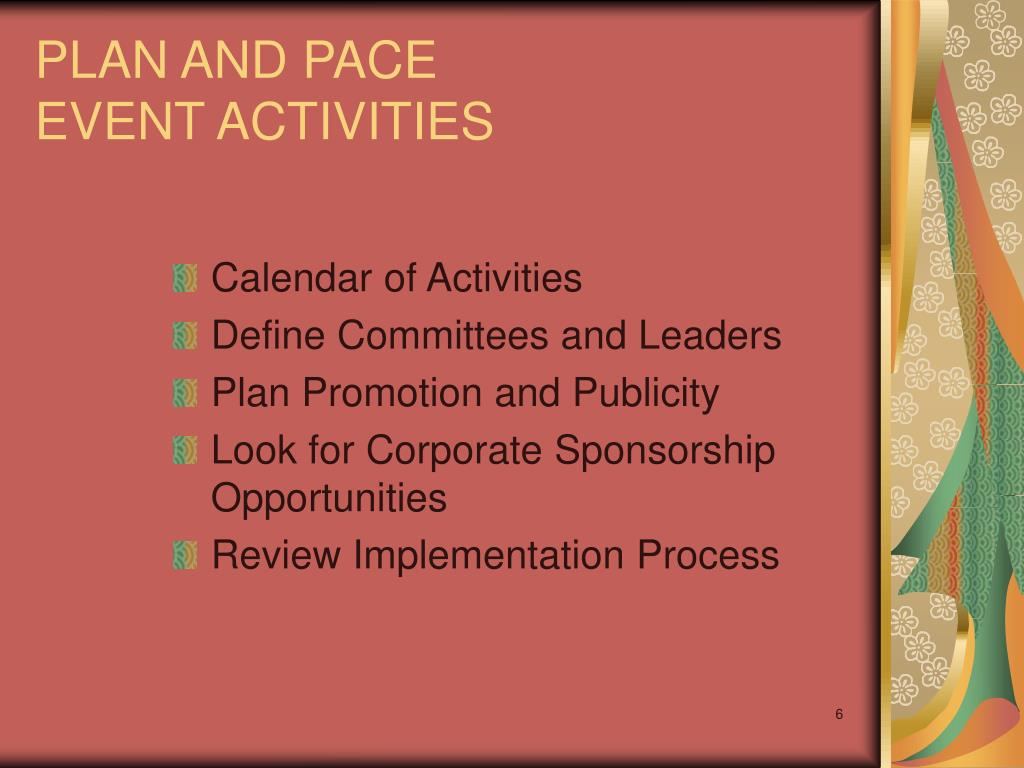 PLAN AND PACE