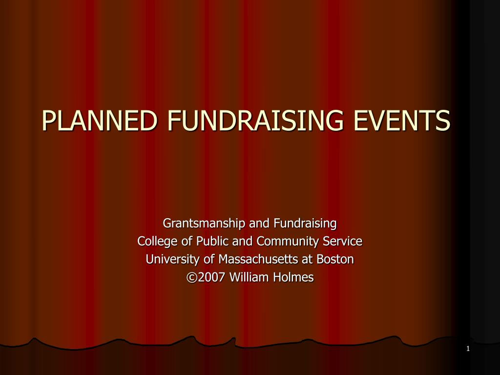 planned fundraising events l.
