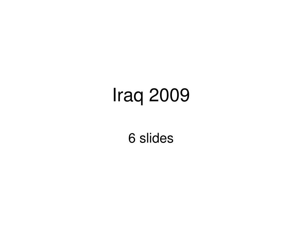 iraq 2009 l.
