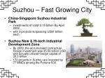 suzhou fast growing city