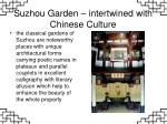 suzhou garden intertwined with chinese culture