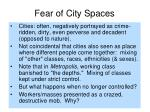 fear of city spaces