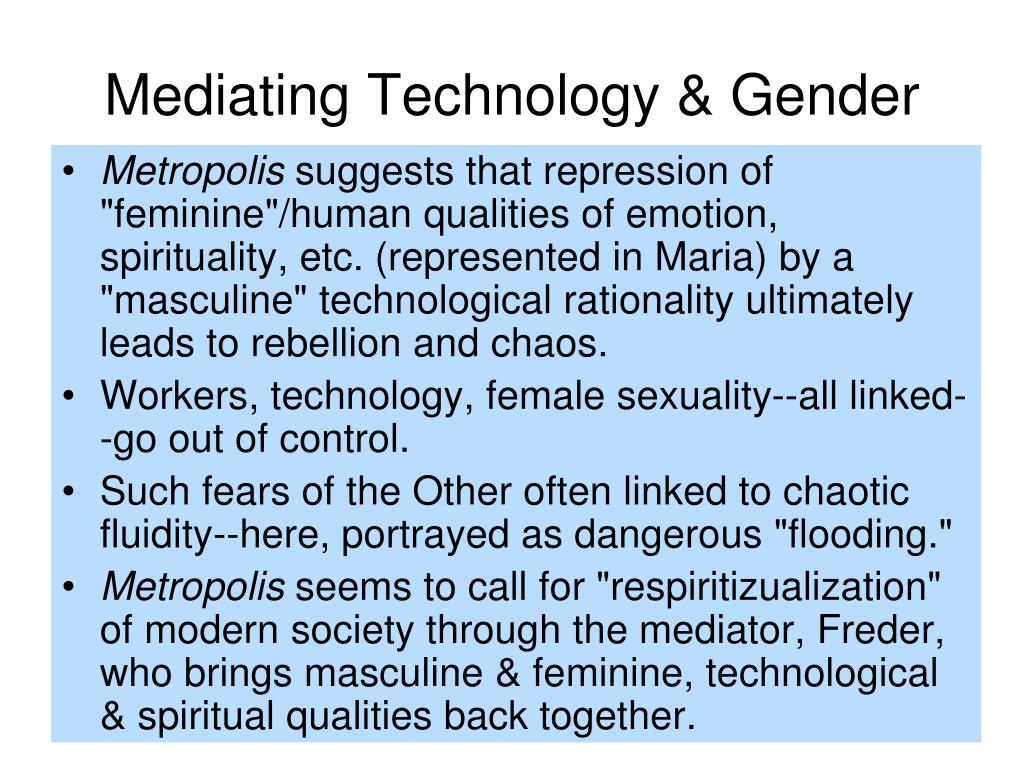 Mediating Technology & Gender