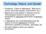 technology nature and gender