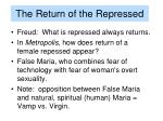 the return of the repressed