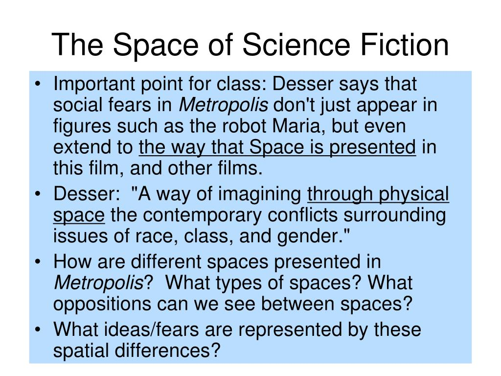The Space of Science Fiction