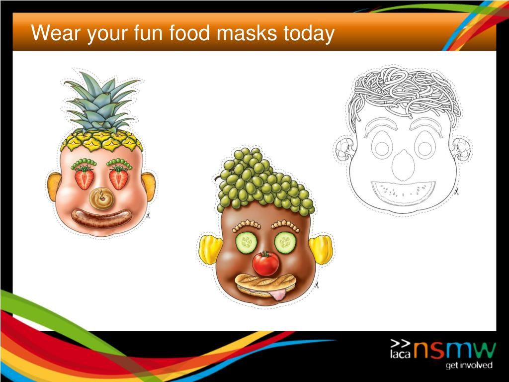Wear your fun food masks today