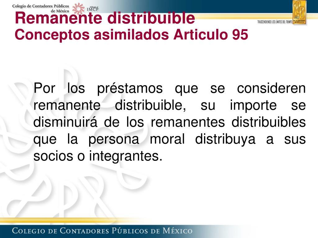 Remanente distribuible