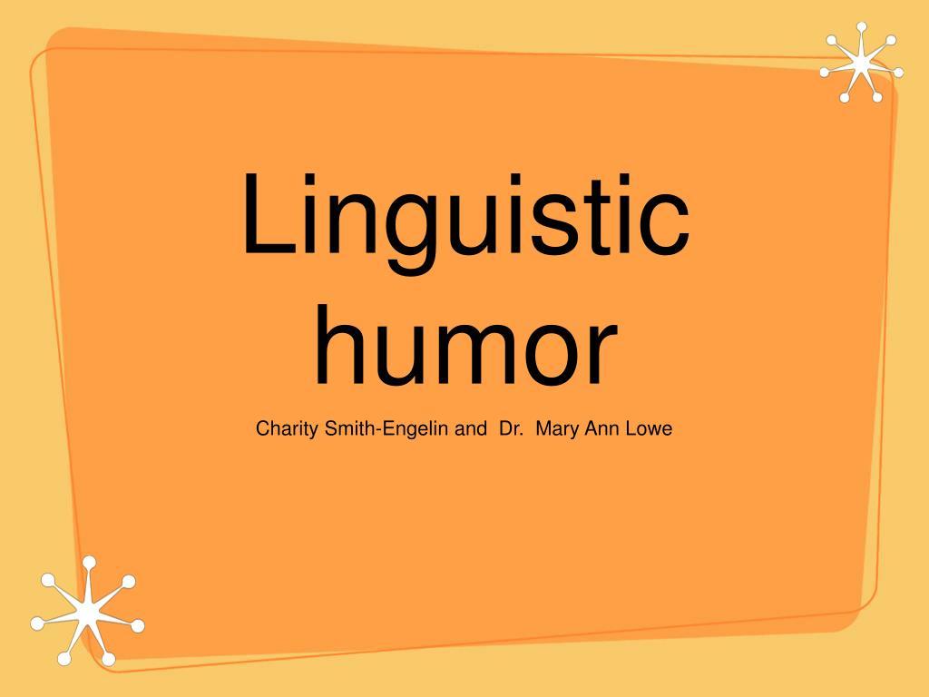 linguistic humor l.