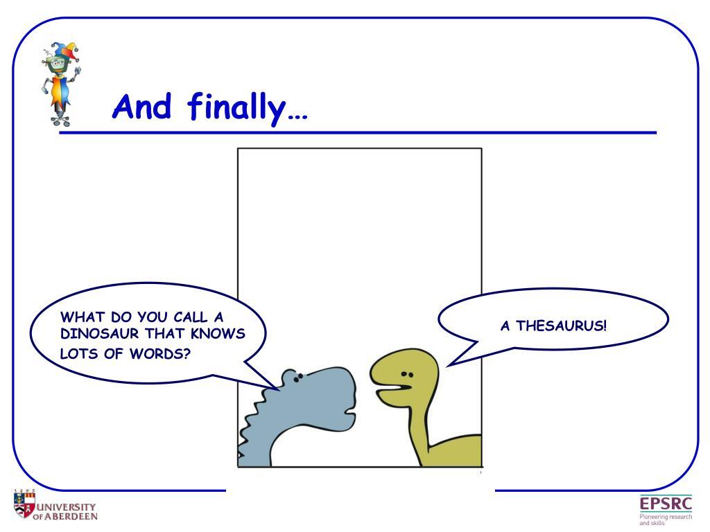 A THESAURUS!