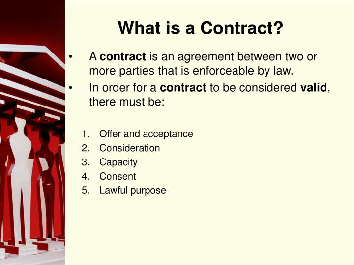 Ppt Elements Of A Contract Powerpoint Presentation Id600741