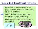 video of small group strategic instruction22