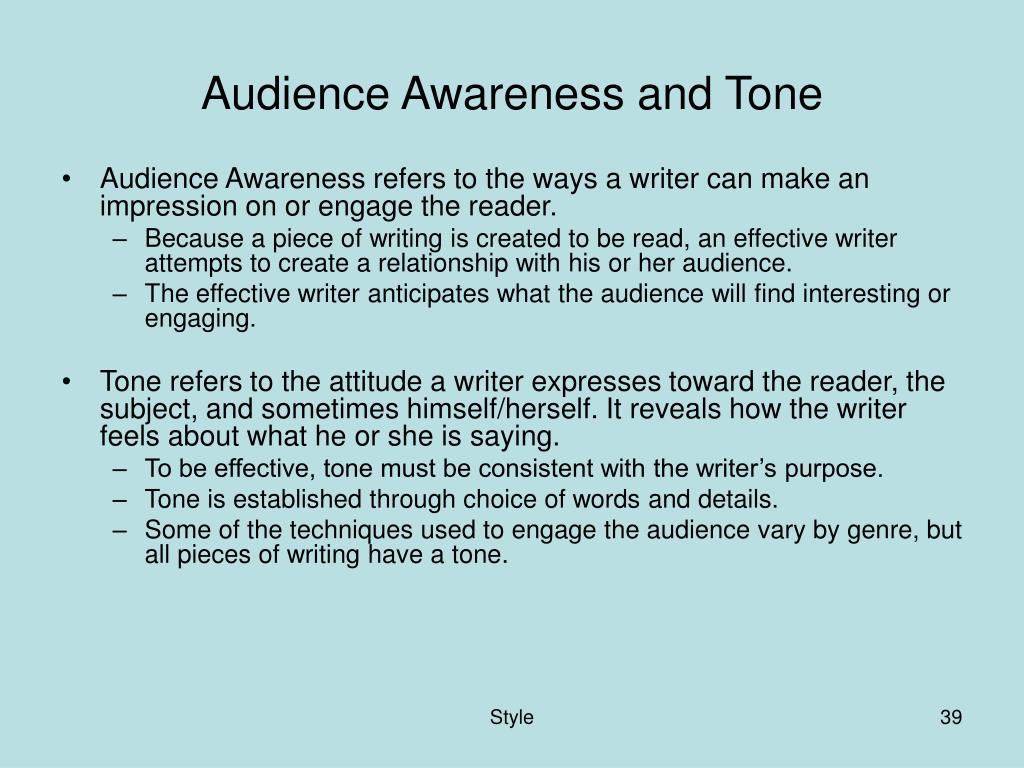 Audience Awareness and Tone