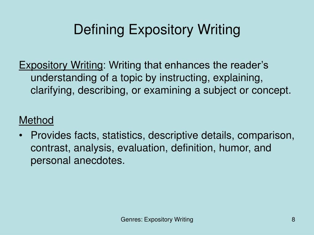 Defining Expository Writing