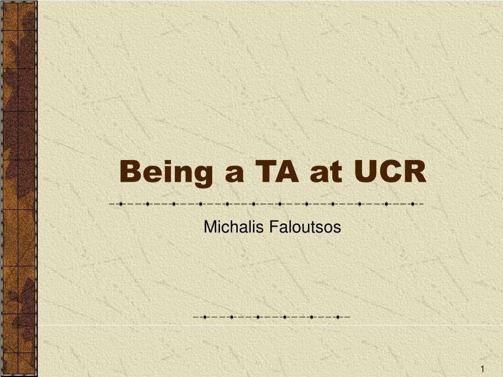 being a ta at ucr l.