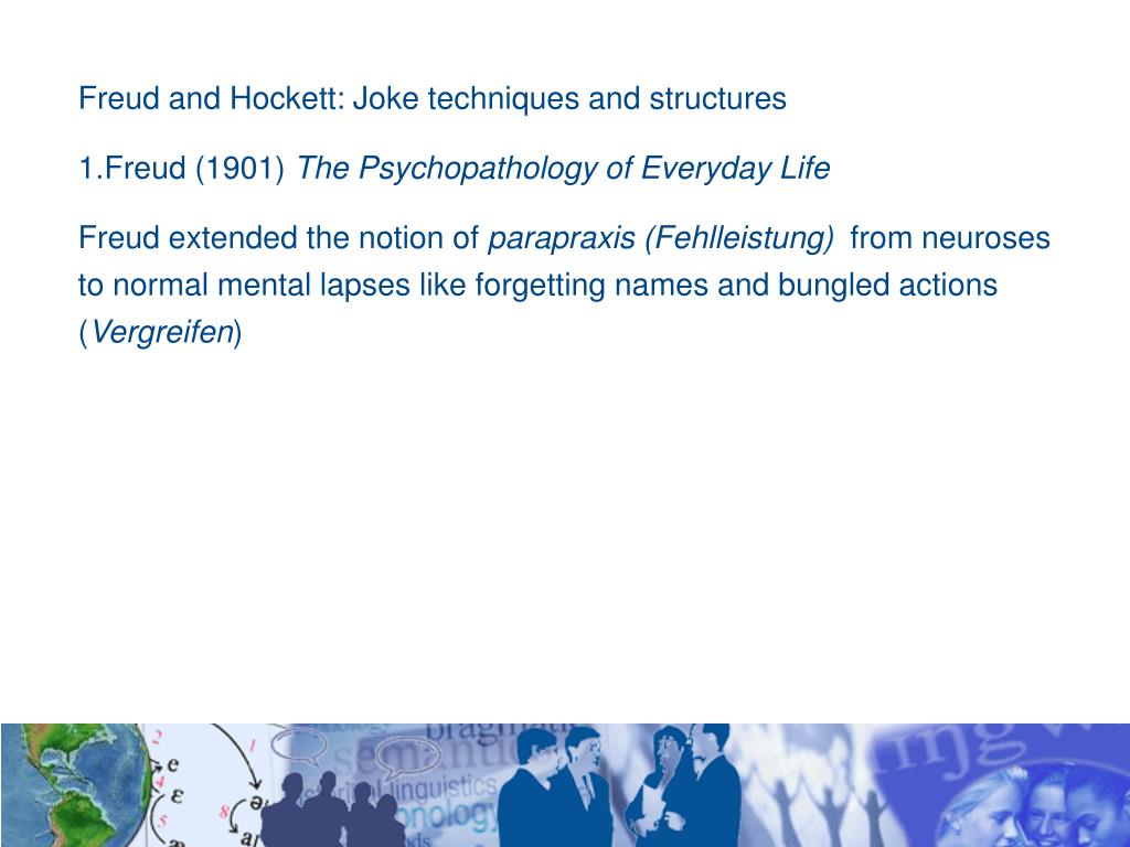 Freud and Hockett: Joke techniques and structures