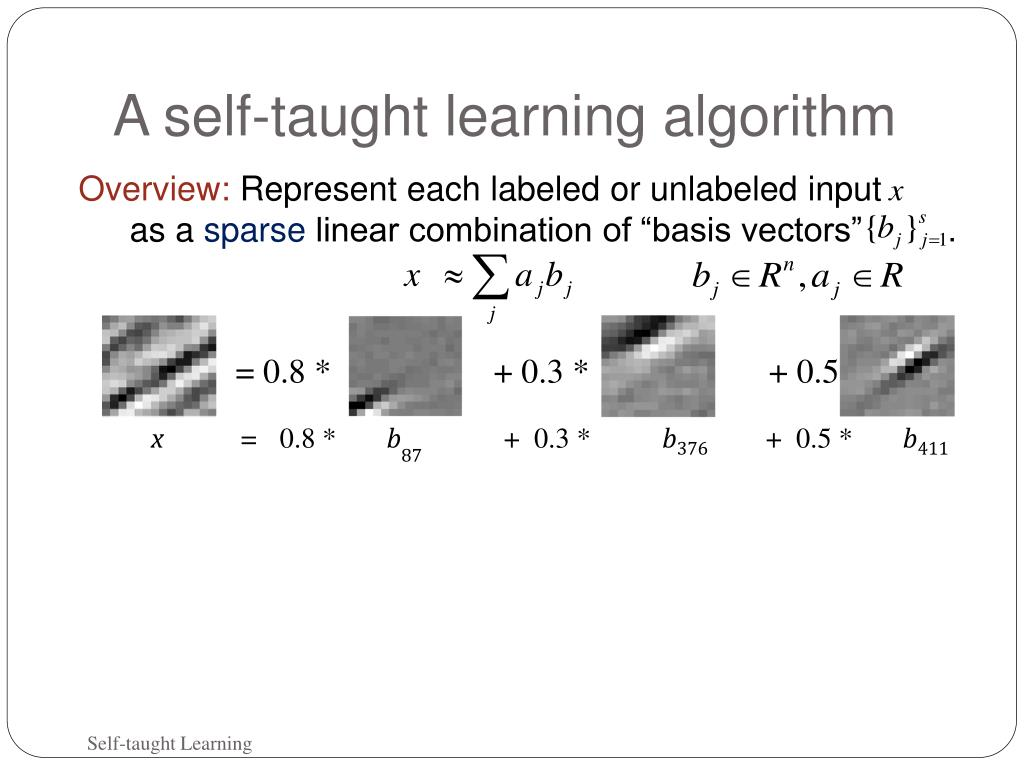 A self-taught learning algorithm