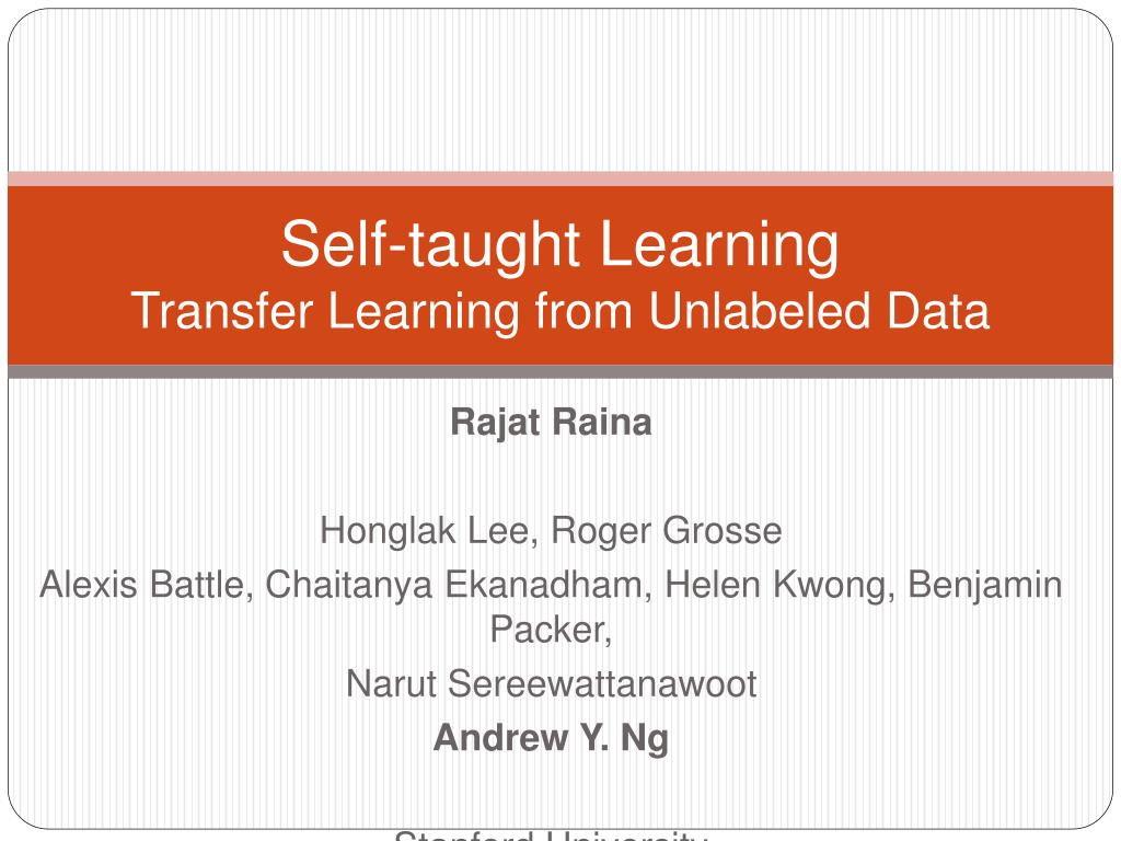 Self-taught Learning