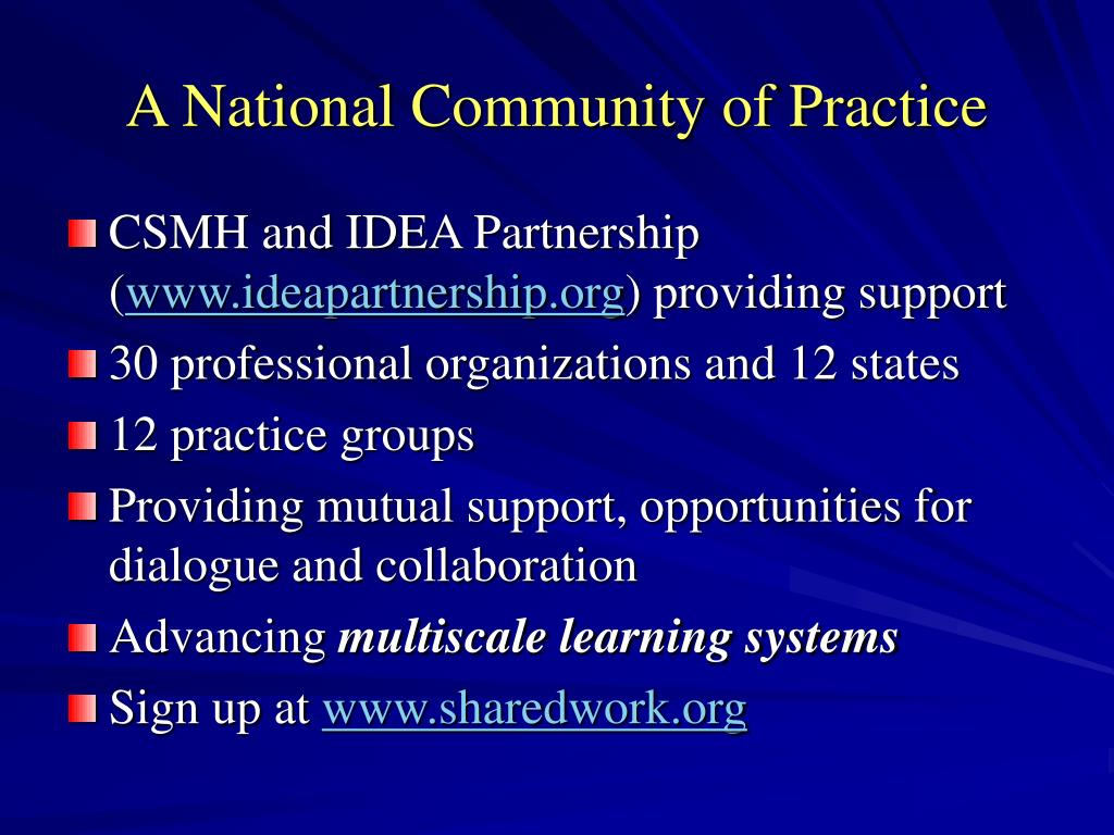 A National Community of Practice