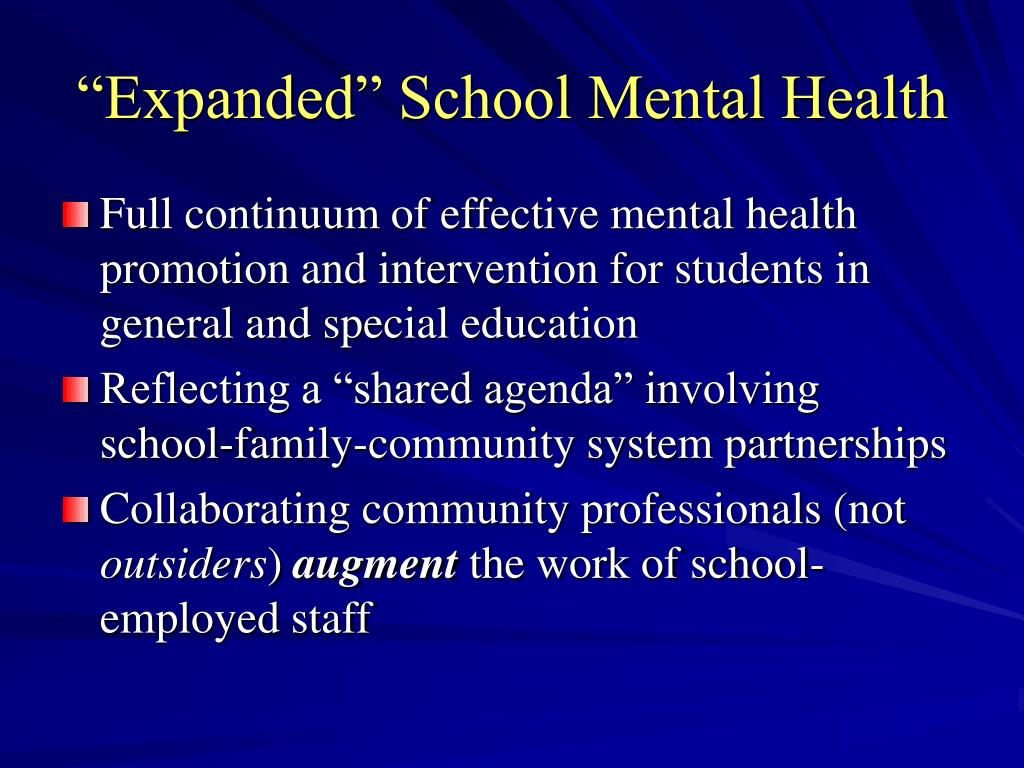 """""""Expanded"""" School Mental Health"""