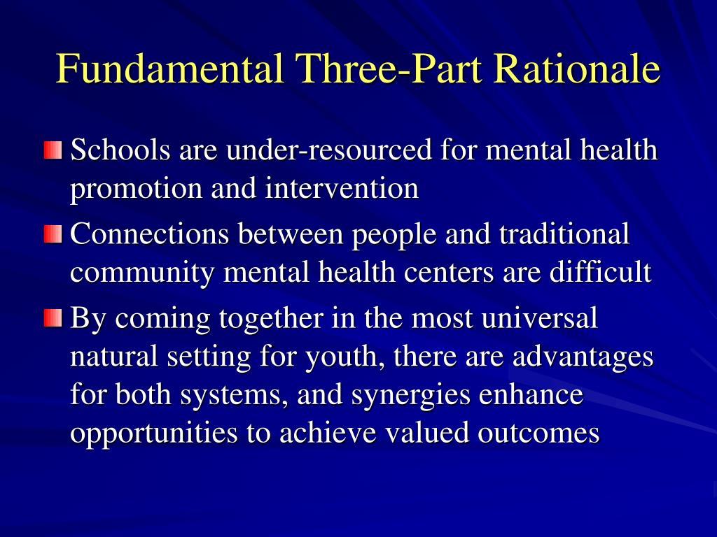 Fundamental Three-Part Rationale