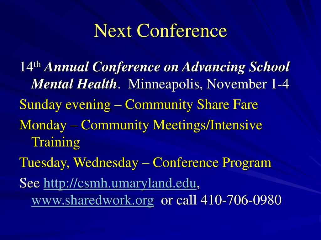 Next Conference