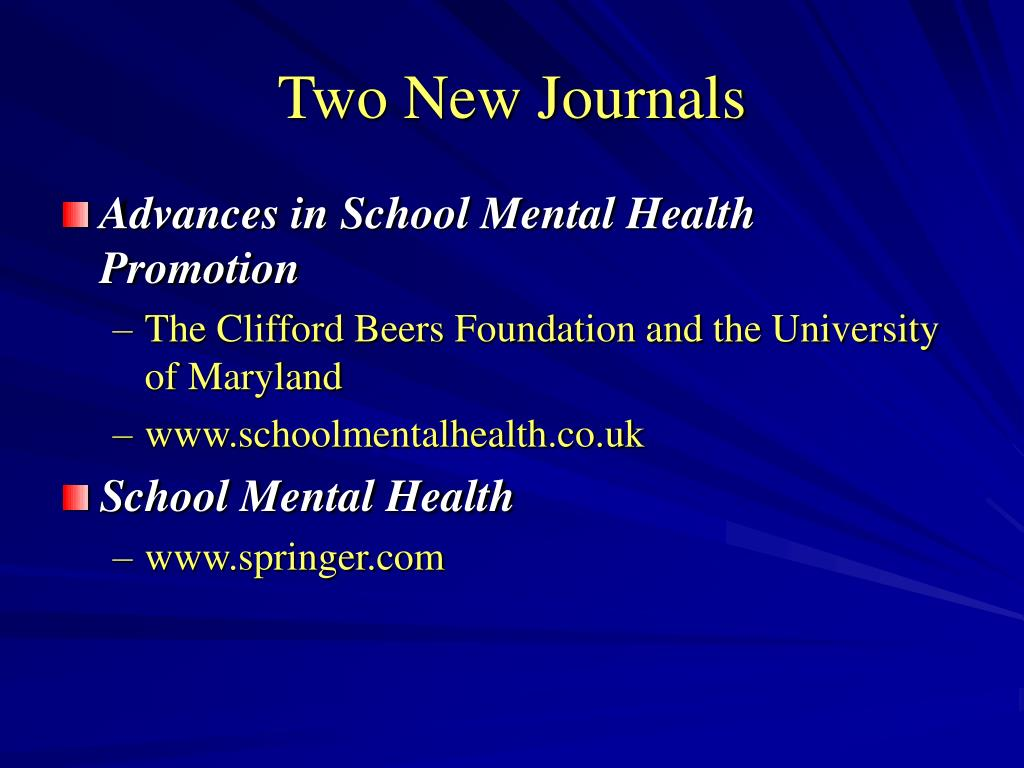 Two New Journals