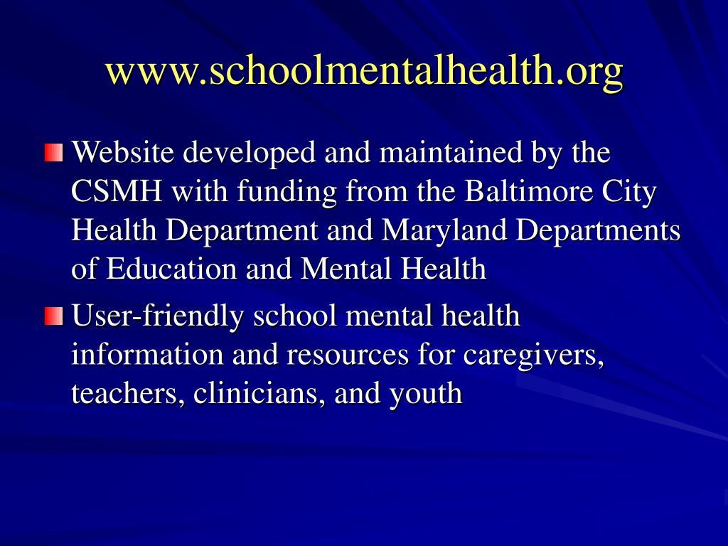 www.schoolmentalhealth.org