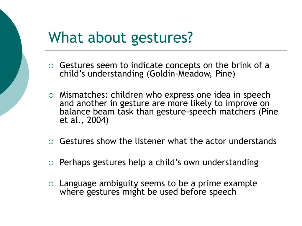 What about gestures?